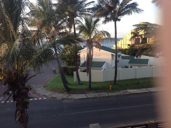 Coco De Mer: The ocean is a one minute walk away.  Taken from my room.