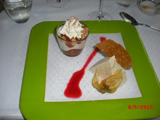 Laerkely Hotel: Og en lækker dessert.
