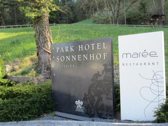 Parkhotel Sonnenhof: Relais and ChateauxPpark Hotel Sonnenhof with 1 Michelin Star Restaurant Maree