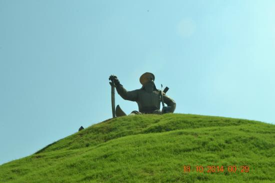 Mohali, Hindistan: the warrior statue