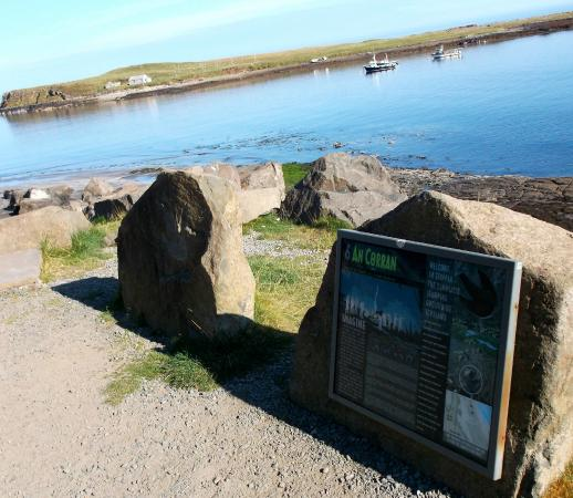 Dinosaur Footprints at Staffin: Information panels about the footprints.