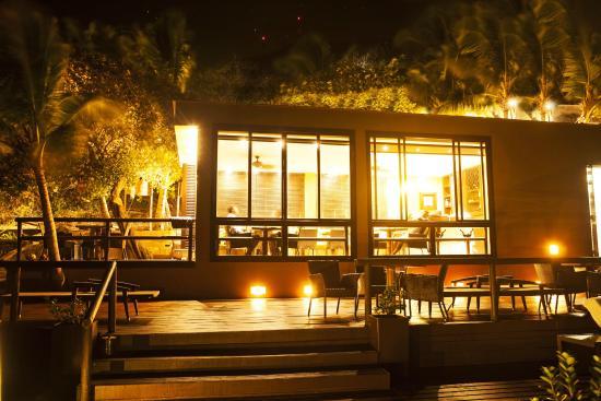Deep Blue Restaurant at night