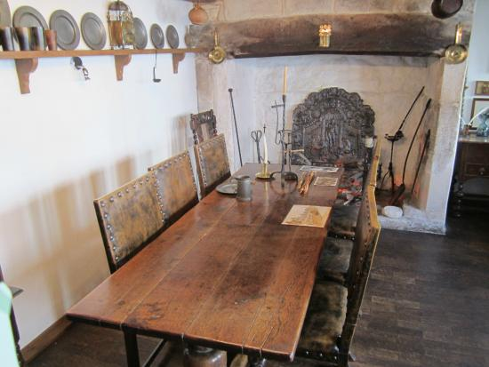 The Tudor House: Ancient table with a reversible top