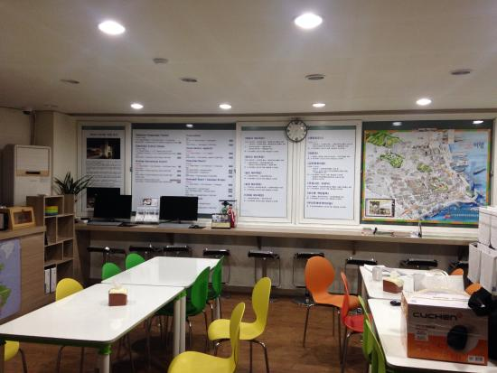 Busan Sukbak Dot Com Guesthouse: ゲストハウス共同スペース