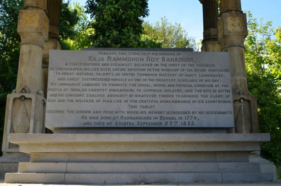 Raja Ram Mohan Roy Tomb: Inscription