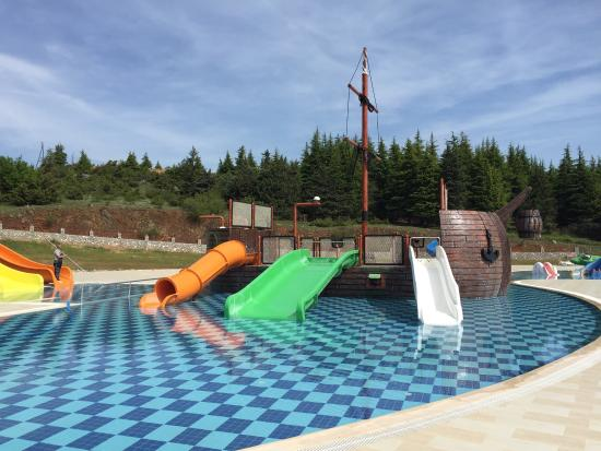 around the pool - picture of hotel izgrev spa & aquapark, struga
