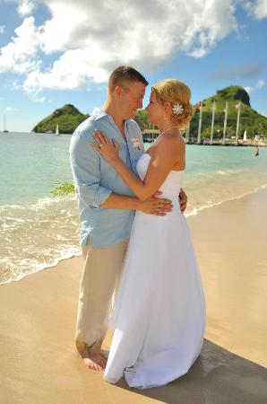 Sandals Grande St Lucian Spa Beach Resort Our Wedding Day On The