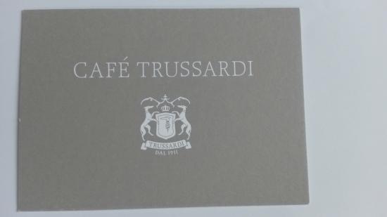 Cafe Trussardi : card