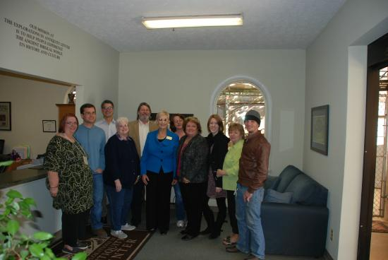 Biblical History Center: We enjoyed a nice visit from Governor Deal's wife!