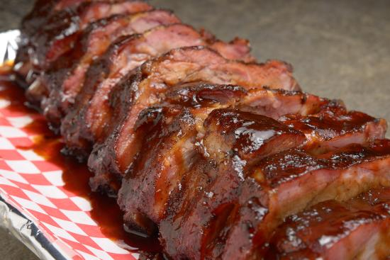 Smokey's Bar-B-Que: Baby Back Ribs Up Close