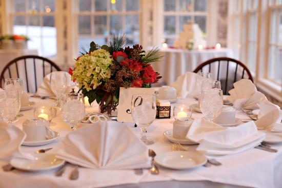 Yarmouth Port, MA: wedding set up
