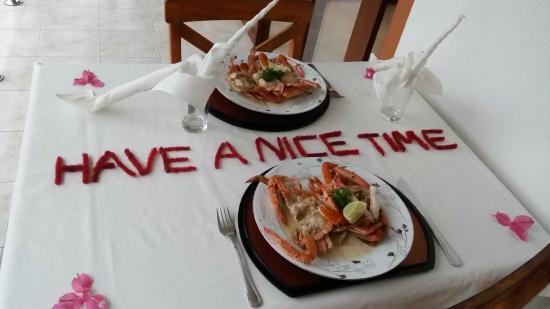 Riverside Inn Fuji Bentota: Ужин на балконе нашего номера
