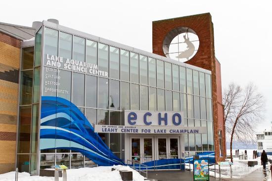 ECHO Leahy Center for Lake Champlain: ECHO Lake Aquarium exterior