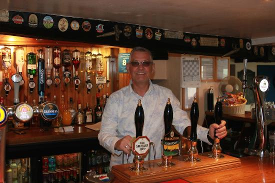 Salutation Inn: The Bartender in the Bar at the Sally on May 13