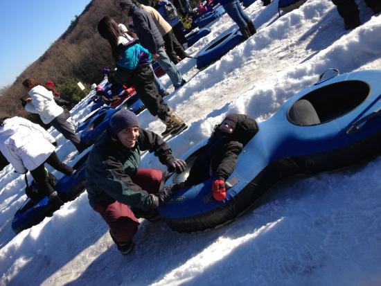 Pocono Mountains: Getting ready to slide down
