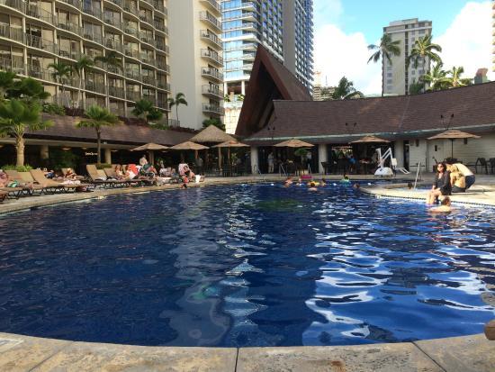 Outrigger Reef Waikiki Beach Resort Pool Area