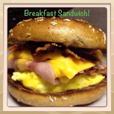 Nogales, AZ: Bacon Egg Ham & Cheese Bagel!