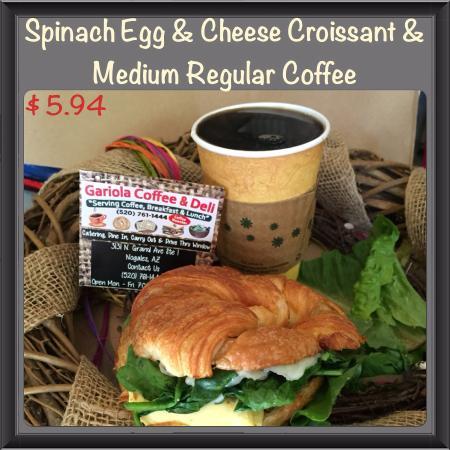 Nogales, AZ: Spinach Egg Croissant!