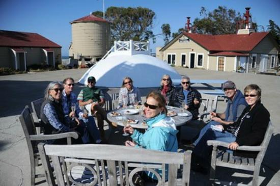 East Brother Light Station: Champagne and hors d'oeuvres upon arrival