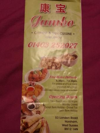 Jumbo Chinese and Thai Take Away