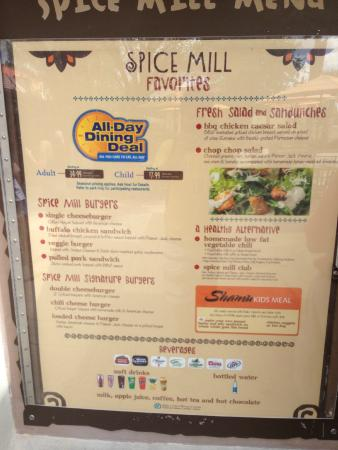 Spice Mill Restaurant at Seaworld Orlando