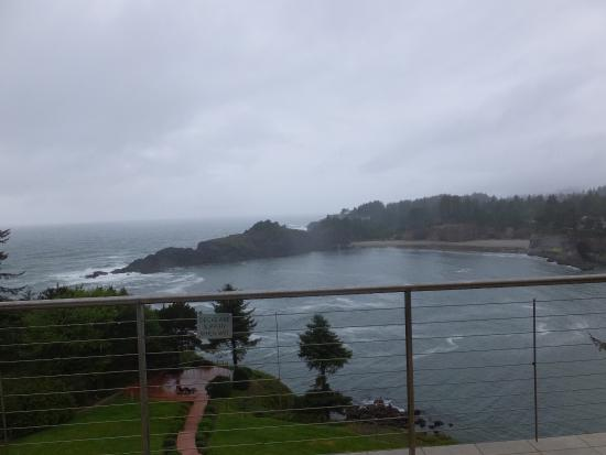 Depoe Bay, OR: A view from our balcony