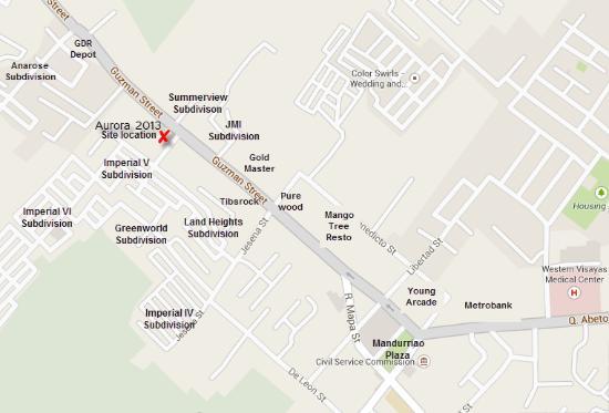 Location Map Picture Of Aurora Guest House Iloilo City - Iloilo city map