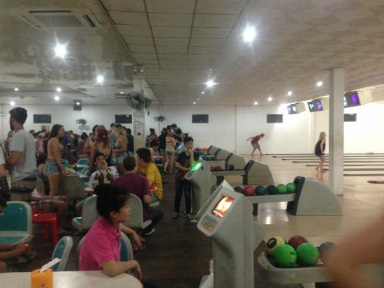 Luang Prabang Bowling Alley: full of backpackers.