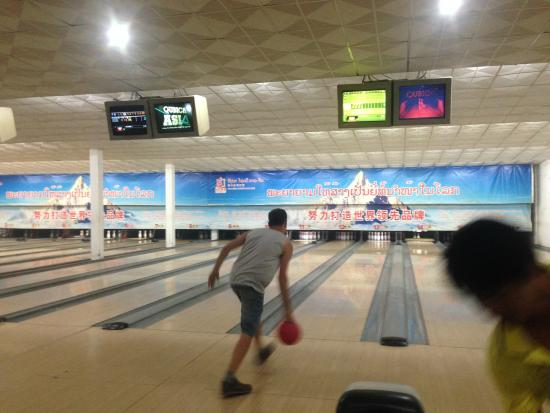 Luang Prabang Bowling Alley: good place indeed.