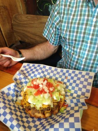 Rocky Mountain Funnel Cakes : Eric and his Mexican cake