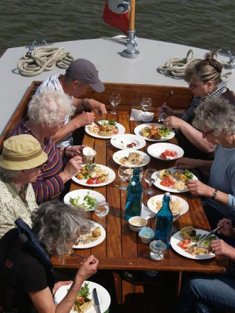 Betsie Jane River Tours: Lunch on board is always a colourful, social affair