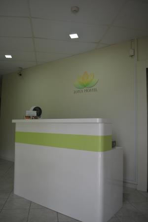 Lotus Hostel: New Reception counter