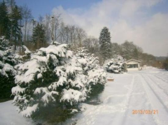 Campingplatz Senhutte: Campingpladsen med sne.