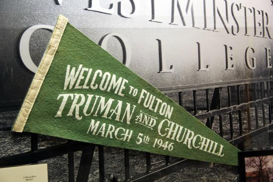 The National Churchill Museum: Pennant from the visit