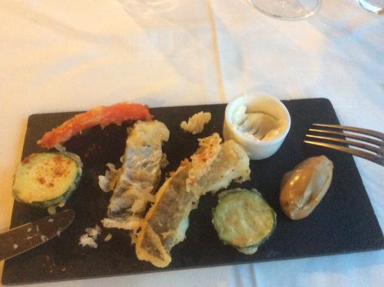Cueva Reina: Morue et tempura  de légumes