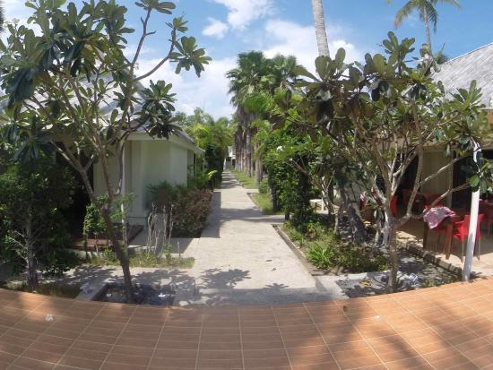 The Beach Boutique Resort: Back side garden view to the reception