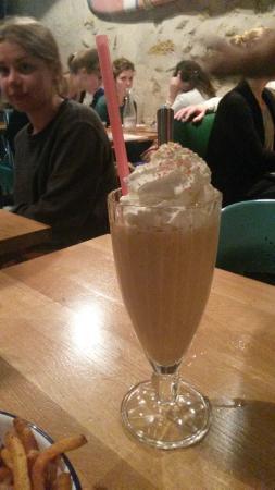 Milkshake caramel beurre salé !