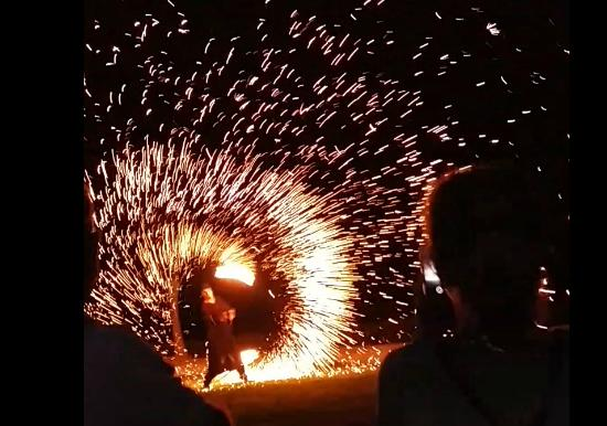 Pernera Beach Hotel: Fantastic Fire show by Mike and Team
