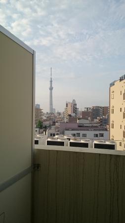 Hotel Hikari : 客室からのスカイツリー