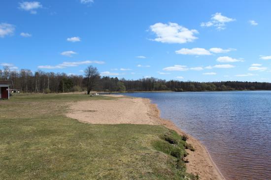 Hultsfred, Sverige: Hulingens badplats