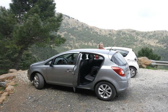 Los Reales de Sierra Bermeja: Parking spot for Paseo de Los Pinsapo walk