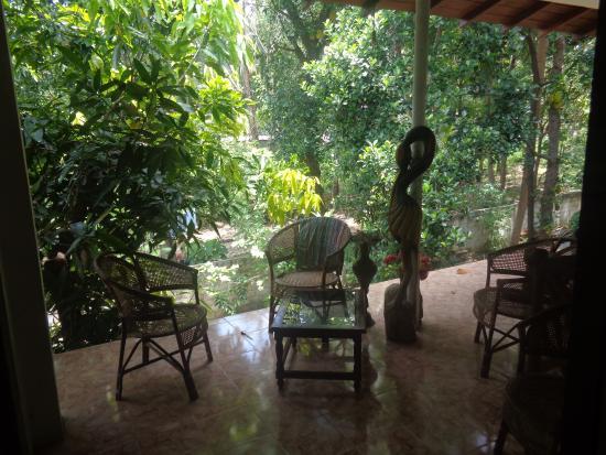 Saman's Guesthouse: Blick aus unserem Zimmer