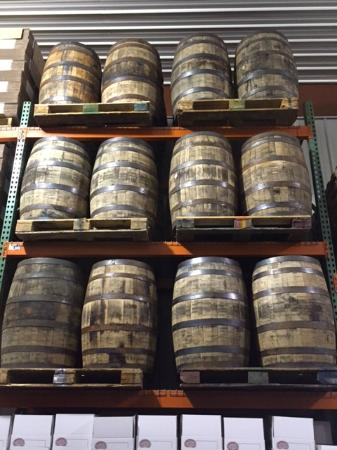 Tyranena Brewing Company: Bourbon barrels for aging some of their beers