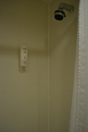 The Empress Hotel : Soap dispenser in the shower same as the one by the sink...