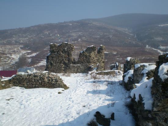 Vynohradiv, Ucrânia: Ruins of the castle