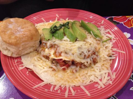 The Flying Biscuit Cafe: Turkey hash and huevos rancheros
