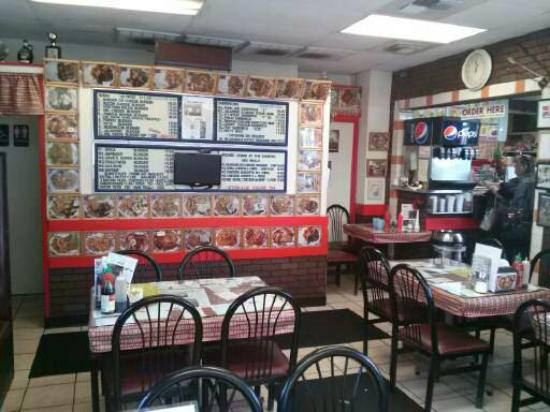 Famous Burger & Teriyaki Sandwich: Clean and neat interior
