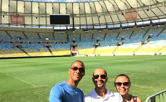 Madson Araujo, Rio De Janeiro Tour: Sur la pelouse du stade Maracana