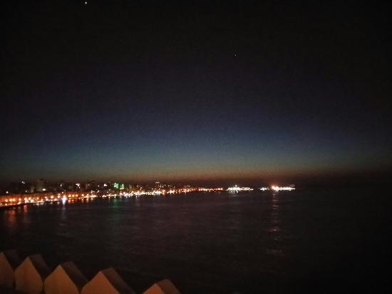 China House: View over harbor at night