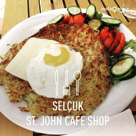 St. John Cafe Shop : Best tasting coffee in Selçuk, Ephesus. Different menu items for a change and they were oh so de